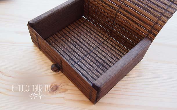 Бамбуковая коробочка для метафорических карт Вид внутри