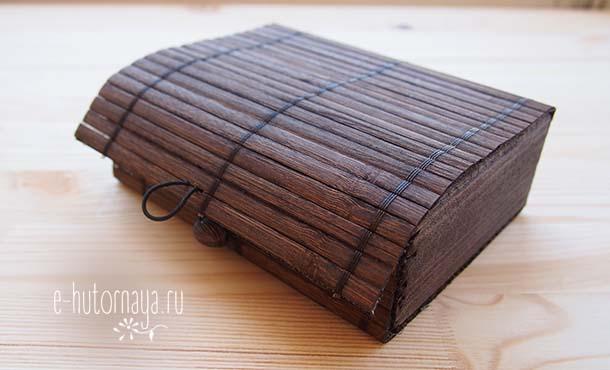 Бамбуковая коробочка для метафорических карт незакрытая