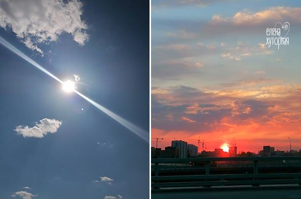 Красота в мелочах Солнце, закат