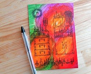 Идеи для маленьких рисунков Миниатюра
